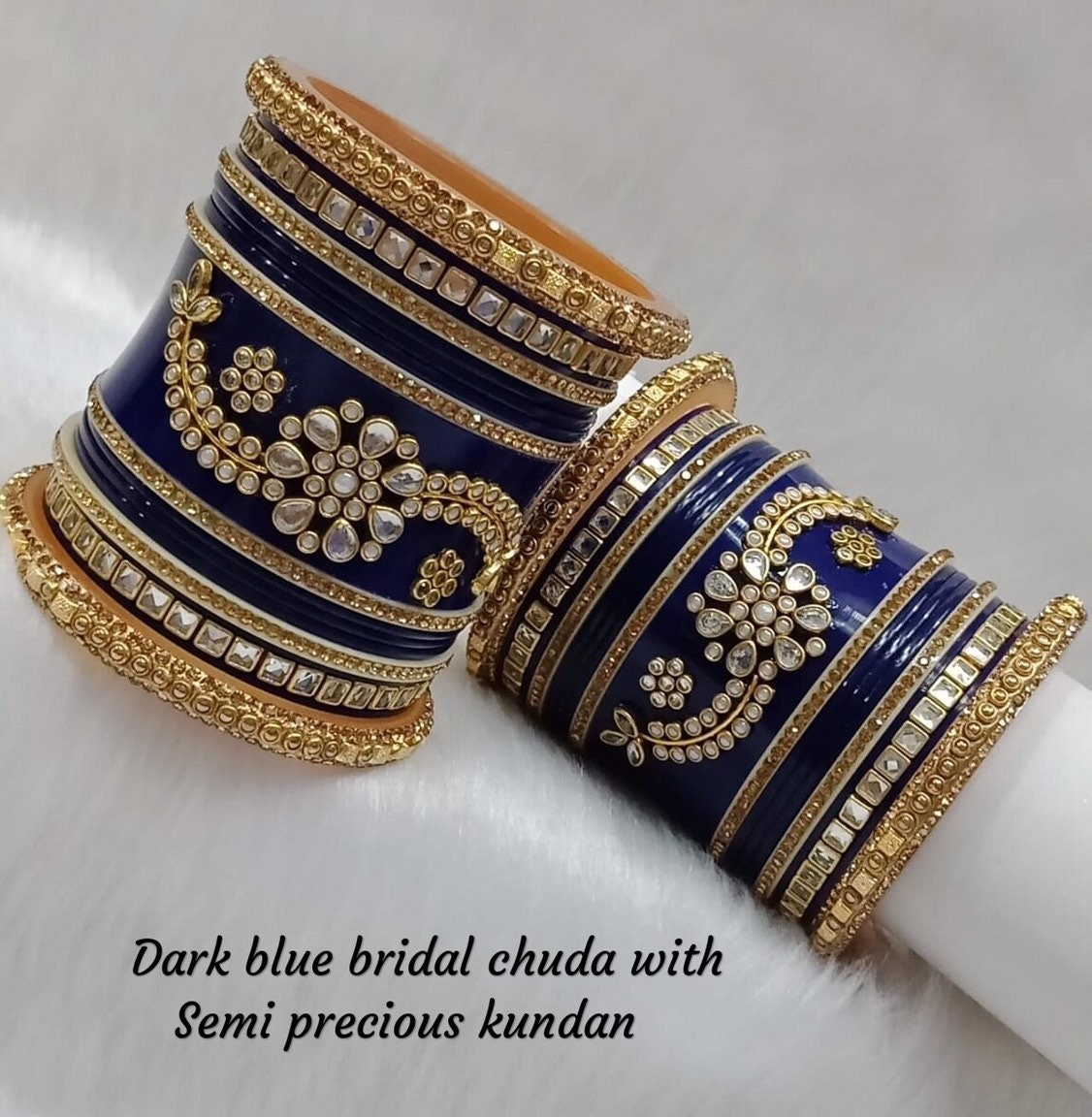 Indian Party wear Jewelry Surbhi ba b047  New Handmade Bollywood Designer 2.6 size White Cubic Zerconia Bangles Set