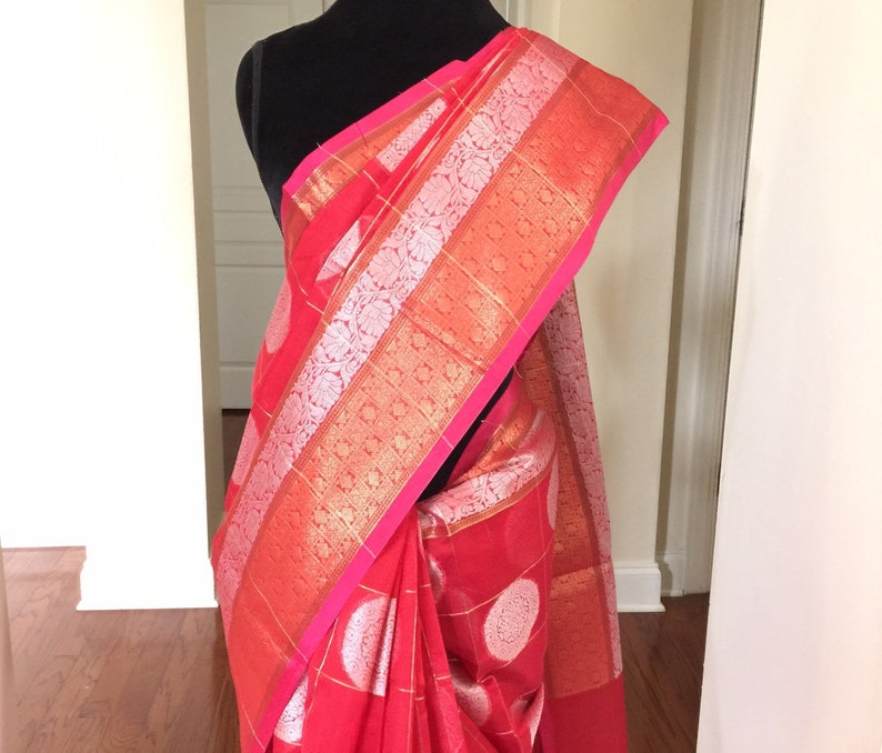 4c5d44bf5 Banaras Chanderi Saree Indian Ethnic Saree Traditional Silk
