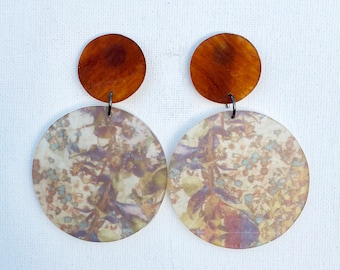 Large Resin Statement Earrings - Prevelly