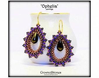 Bead Pattern Beaded Earrings Shedar With Paisley Duo Beads Etsy