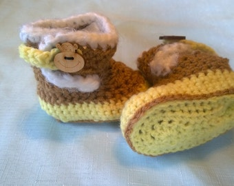 Brown and Yellow Monkey Booties