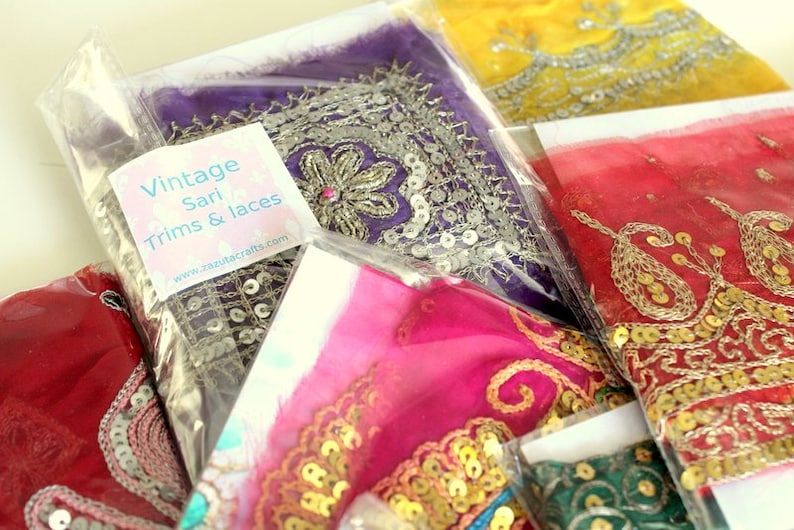 Vintage Trims Grab Bag crafts 20 assorted Trims for Quilting