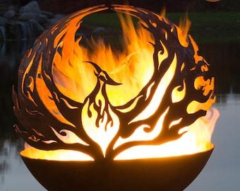 Phoenix Rising - Fire Pit Sphere