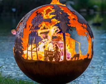 Appel Crisp Farms-Farm Fire Pit Sphere