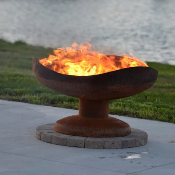 Sand Dune Fire Pit Functional Art Steel Fire Bowl For Your Etsy