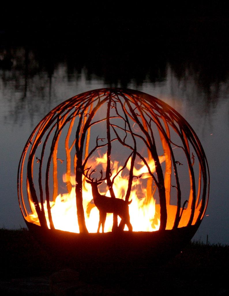 Winter Woods \u2013 Birch Tree Fire Pit