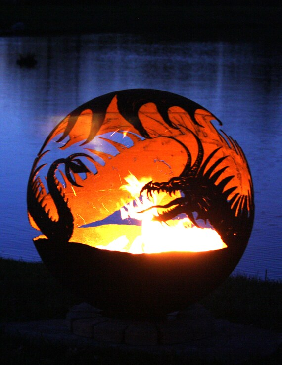 image 0 - Pendragons Hearth Dragon Fire Pit Etsy
