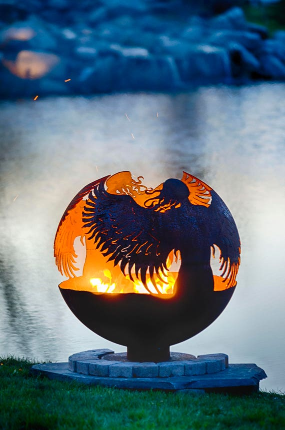 Hidden – Angel Fire Pit Sphere - Hidden Angel Fire Pit Sphere Etsy