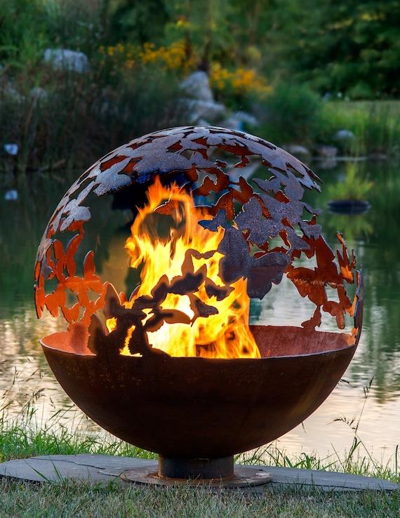 Wings – Butterfly Fire Pit Sphere - Wings Butterfly Fire Pit Sphere Etsy