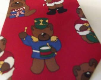 Vintage Christmas Necktie Save The Children Santa Rudolph Reindeer 100/%SILK
