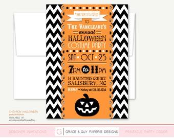 Halloween Invitation - Halloween Party - Printable Halloween Invitation
