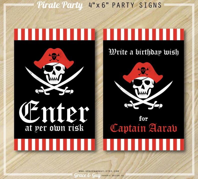 graphic regarding Printable Birthday Signs titled Pirate Social gathering - Birthday Social gathering Symptoms - Printable Birthday Signs or symptoms