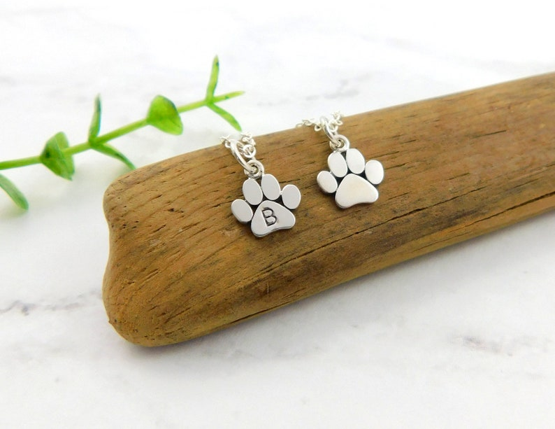 Tiny Paw Necklace for Women Cat and Dog Paw Print Necklace Cat Mom gift Paw Print Necklace Sterling Silver Dog Mom Necklace