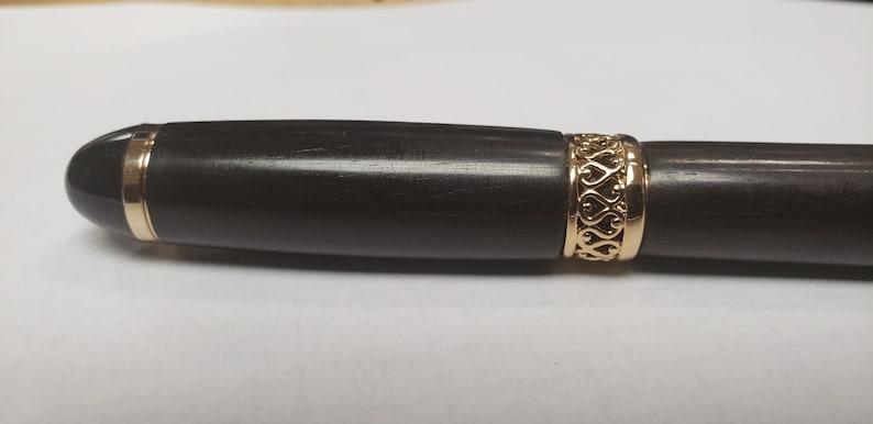 Classic Pen, Unique Pen Hand Turned Pen Collectible Pen African Blackwood Apollo Infinity Twist Pen,Handcrafted Pen Mpingo Gift Ideas