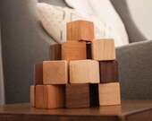 24 Natural Wood Blocks Large Set // This Classic Educational Kids Toy is Eco-Friendly, A Perfect for Montessori Learning Toy
