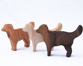 Natural Dog Rattle Toy // Handmade Organic Puppy Baby Wood Teething Rattle // Personalized Eco Friendly wood toy, natural baby gift