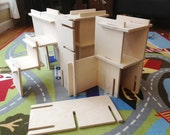 Organic Natural Wood Architect Play Set // Modular Walls Build Your Own World // Montessori Inspired Toy // Handmade Building Toy for Kids