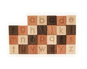 ABC Alphabet Natural Wood Blocks Set // This Classic Educational Kids Toy is Eco-Friendly, A Perfect for Montessori Learning Toy
