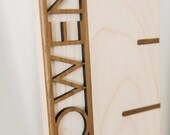 Personalized 6' Maple Growth Chart Ruler with Ticks