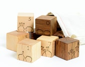 Counting Numbers Natural Wood Blocks Set // Learning Educational Toy is Eco-Friendly, Perfect for Pre-K Learning Toy