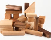 Wood Building Blocks, 30 pc. Wooden Toy, Montessori Wood Blocks, Stacking and Building, all natural, handmade, heirloom wood blocks for kids