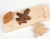 Wood Leaves Puzzle // Montessori Educational Toy // custom handmade wood puzzle // eco green babytoddler gift