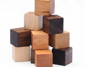 12 Natural Wood Blocks Set // This Classic Educational Kids Toy is Eco-Friendly, A Perfect for Montessori Learning Toy