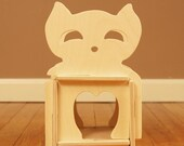 Wood Cat House // Natural Wooden Toy Playhouse // Waldorf Inspired Classic Simple Eco Friendly Toy House Great with Wood Figurines and Dolls