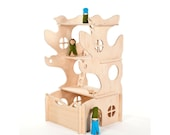 Modular Tree House Toy // This Modular Natural Building Toy will Challenge Kids' Creativity // modern wood toy // Modern Dollhouse