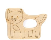 Kitty Cat Baby Toy Wooden Teether