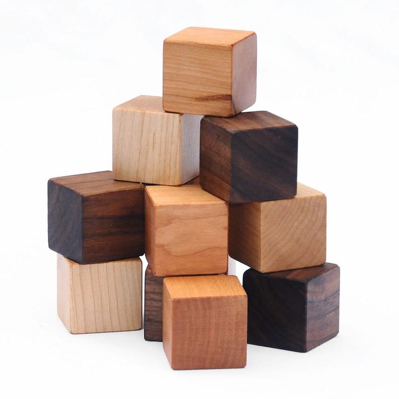 12 Natural Wood Blocks Set // This Classic Educational Kids image 0