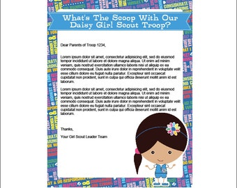 Daisy Girl Scout Letterhead - Printable Instant Download