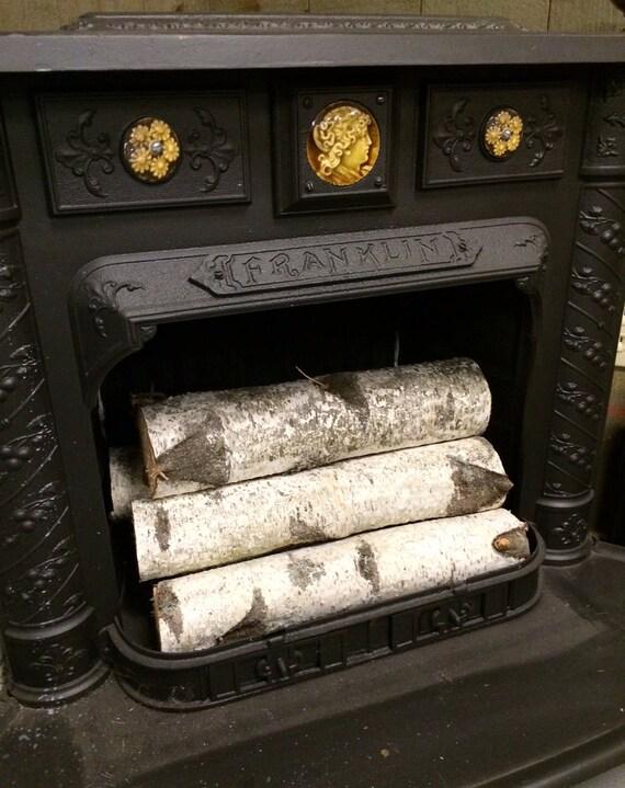 Decorative White Birch Fireplace Logs Quantity Of 6 Etsy