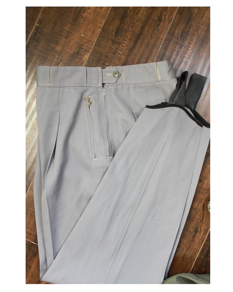 Moore /& Co Size 28 Waist Vermont USA Vintage 1950/'s Slalom Ski Wear Pants Grey Wool  Stirrup B.F