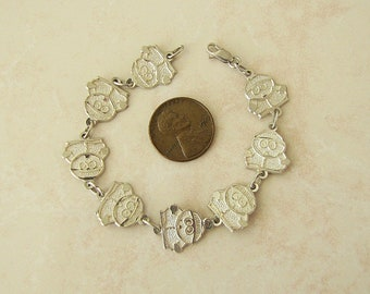 Sterling Silver Eric Cartman Bracelet, 6.5 inches