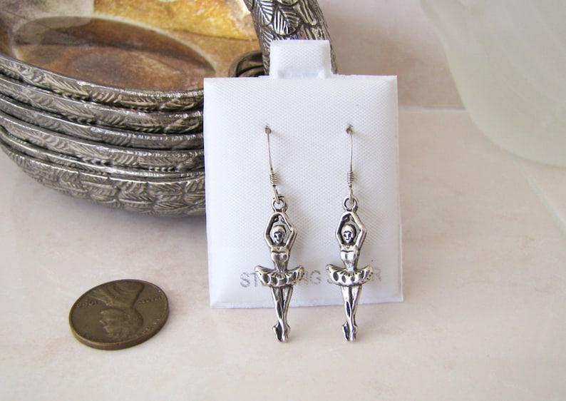 Ballerina Sterling Silver Earrings
