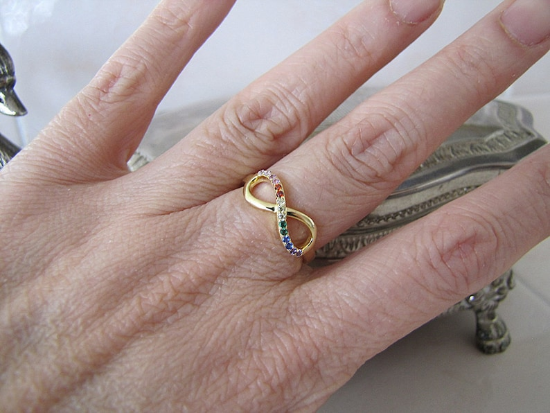 forever love ring size 7 Infinity gold vermeil ring