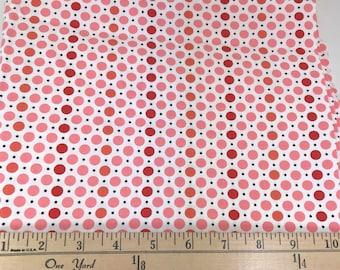 Red Pink Dots, Picnic and Fairgrounds, DS Quilts Collections by Denyse Schmidt for Fabric Traditions, 1 Yard