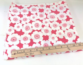 Summer in the City, Urban Chiks, Moda, Flowers in Coral Pink, 48 inches x WOF