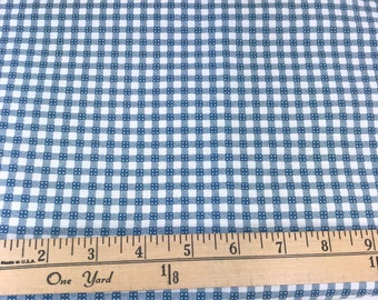 Navy Blue, Cream, Gingham, Checks, Picnic and Fairgrounds, DS Quilts Collections by Denyse Schmidt for Fabric Traditions, 60 Inches