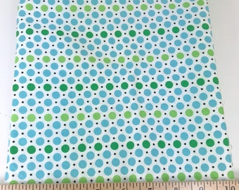 Blue Green Dots, Picnic and Fairgrounds, DS Quilts Collections by Denyse Schmidt for Fabric Traditions, 1 Yard