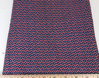 Navy Blue Red Zig-Zags, Picnic and Fairgrounds, DS Quilts Collections by Denyse Schmidt for Fabric Traditions, 1 Yard