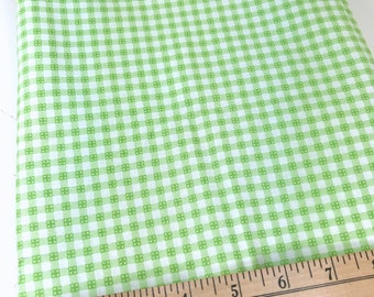Green, Gingham, Checks, Picnic and Fairgrounds, DS Quilts Collections by Denyse Schmidt for Fabric Traditions, 1 Yard