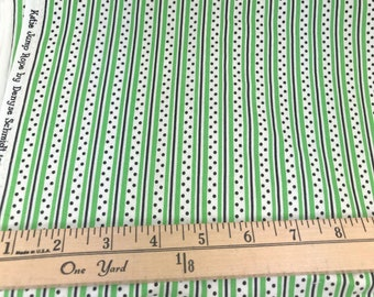 Green, Black, Dot, Stripe, Katie Jump Rope, Denyse Schmidt, Free Spirit Fabrics, 26 Inches, **PRE-WASHED**