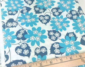 Blue Floral, Picnic and Fairgrounds, DS Quilts Collections by Denyse Schmidt for Fabric Traditions, 46 Inches