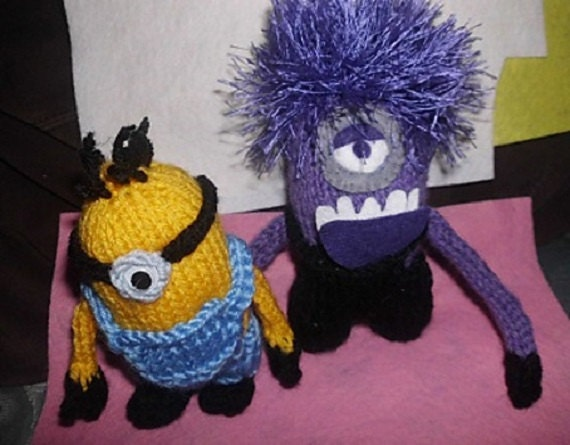 Evil Minion Knitting Pattern Sold For Charity Etsy