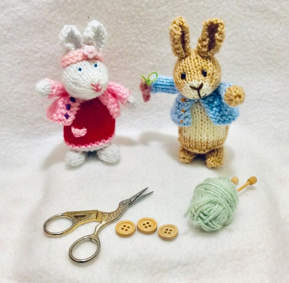 New Peter Rabbit Knitted Baby Mittens
