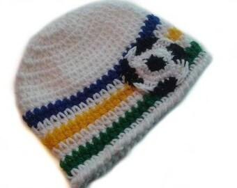 Baby Unisex Brazil World Cup Soccer Ball Sports Fan Photo Prop Beanie Hat