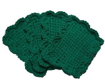 Fancy Handmade Reusable Cotton Sponges-Set of 4