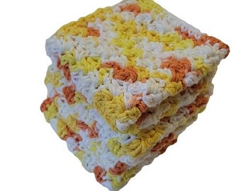 Handmade Cotton Dish Wash Cloth Set of 4-Fall Kitchen